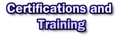 Certifications and Training